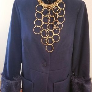 JustFabulous navy blue coat